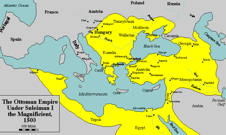 The Map The Ottoman Empire During Emperor Sultan The Ist